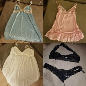 Lingerie Bundle of 4 outfits